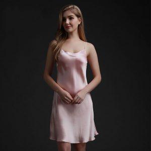 Silk night dress thin skirt comfortable silk pajams